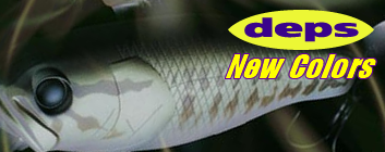 Deps new top water colors available for summertime bassing!